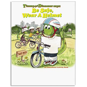 Be Safe, Wear A Helmet Educational Activities Book - Personalization Available