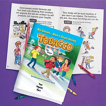 Be Smart Don't Start Using Tobacco Educational Activities Book - Personalization Available