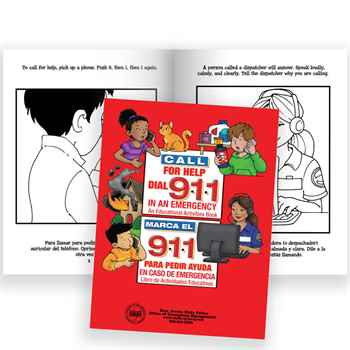 Telephone For Help, Call 9-1-1 English/Spanish Educational Activities Book - Personalization Available