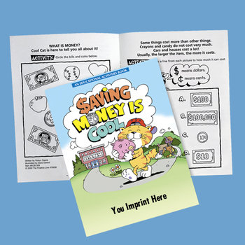 Saving Money Is Cool Activities Book (Bank Edition) - Personalization Available