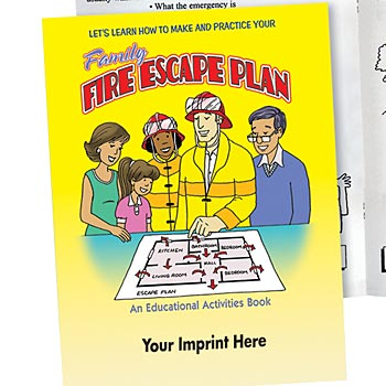 Let's Learn How To Make And Practice Your Family Fire Escape Plan Activity Book
