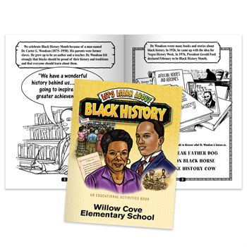 Let's Learn About Black History Educational Activities Book - Personalization Available