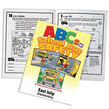 ABCs Of School Bus Safety Educational Activities Book - Personalization Available