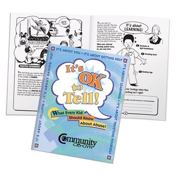 It's OK To Tell! Educational Activities Book - Personalization Available