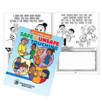 Let's Learn About Safe And Unsafe Touching Educational Activities Book - Personalization Available