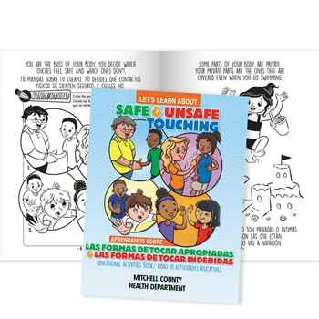 Let's Learn About Safe And Unsafe Touching English/Spanish Activities Book - Personalization Available