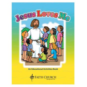 Jesus Loves Me Educational Activities Book - Personalization Available