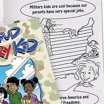 I'm A Proud Military Kid Educational Activities Book - Personalization Available