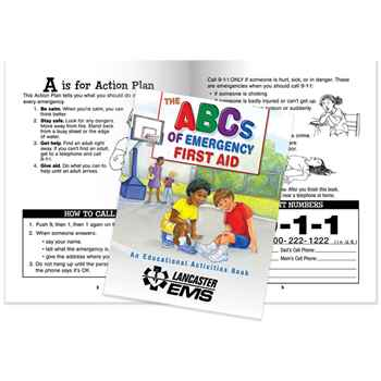 The ABCs Of Emergency First Aid Educational Activities Book - Personalization Available