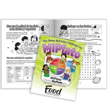 Good Nutrition Starts With MyPlate Spanish Language Educational Activities Book - Personalization Available