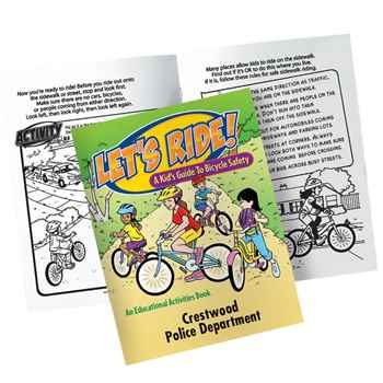 Let's Ride! A Kid's Guide To Bicycle Safety Educational Activities Book - Personalization Available