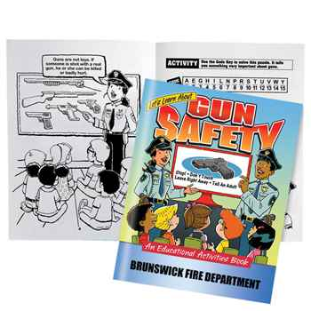 Let's Learn About Gun Safety Educational Activities Book - Personalization Available