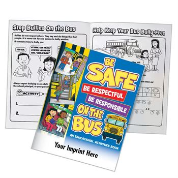 Be Safe, Be Respectful, Be Responsible On The Bus Educational Activities Book - 50 Per Pack - Personalization Available