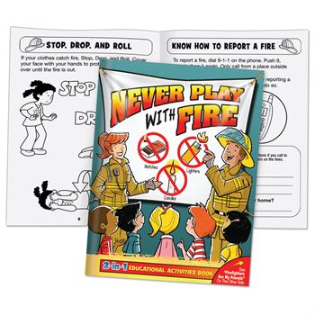 Firefighters Are My Friends/Never Play With Fire 2-in-1 Educational Activities Flipbook