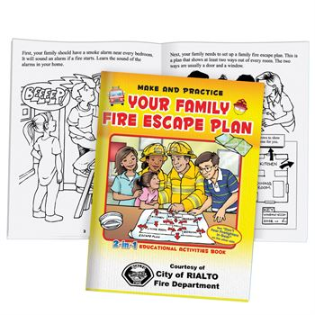 Your Family Fire Escape Plan/Don't Fear Firefighters In Gear 2-in-1 Educational Activities Flipbook - Personalized