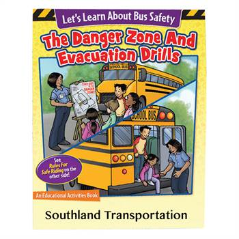 Let's Learn About Bus Safety: Rules For Safe Riding/The Danger Zone & Evacuation Drills Educational Activities Book - 50 Per Pack - Personalized