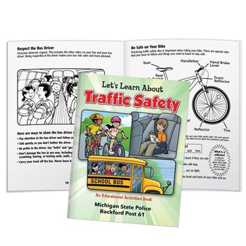 Let's Learn About Traffic Safety Educational Activities Book - Personalization Available