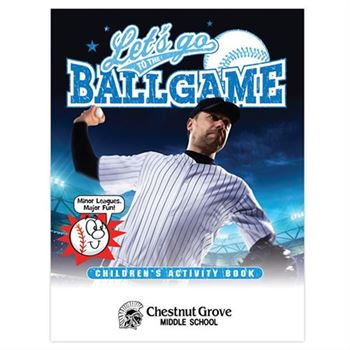 Let's Go To The Ballgame Educational Activities Book - Personalization Available