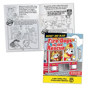 Bucket And Blaze: Fire Dogs To The Rescue Educational Activities Book - Personalization Available