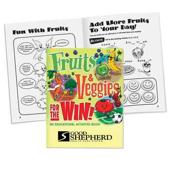 Fruits & Veggies For The Win! Educational Activities Book - Personalization Available