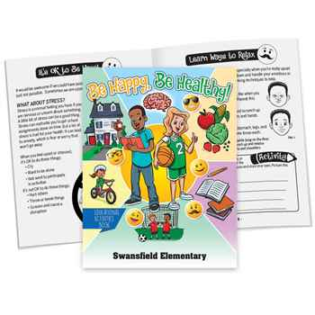 Be Happy, Be Healthy! Educational Activities Book - Personalization Available