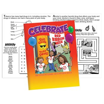 Celebrate Red Ribbon Week Educational Activities Books - Pack of 50