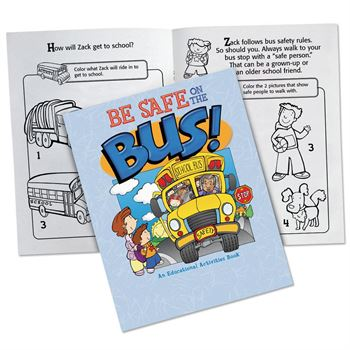 Be Safe On The Bus! Preschool Educational Activities Book - 50 Per Pack