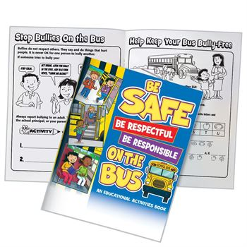 Be Safe, Be Respectful, Be Responsible On The Bus Educational Activities Book - 50 Per Pack