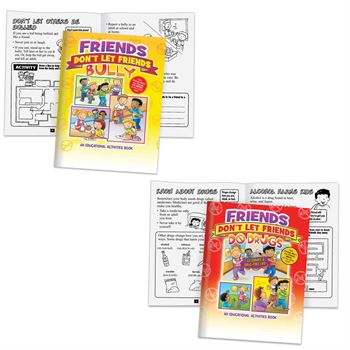 Friends Don't Let Friends Bully Or Do Drugs 2-In-1 Flipbook Educational Activities Book