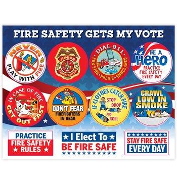 Fire Safety Gets My Vote Sticker Sheet