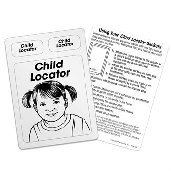Child Locator Emergency Locator Reflective Stickers - 100 Per Pack