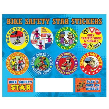 Bike Safety Star Stickers
