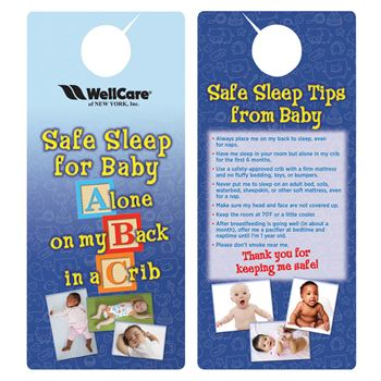 Safe Sleep For Baby Door Hanger - Personalization Available