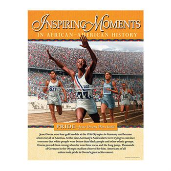 Inspiring Moments In African-American History Laminated Poster Set