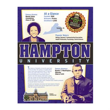Historically Black Colleges & Universities Laminated Poster Set