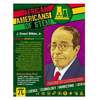 African Americans Of STEM! Laminated Poster Set