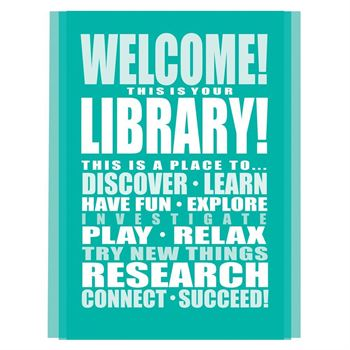 Welcome! This Is Your Library! Laminated Poster Pack