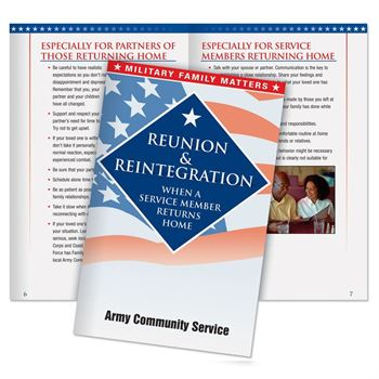 Reunion & Reintegration When A Service Member Returns Home Handbook - Personalization Available