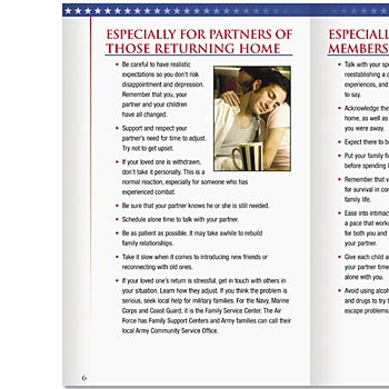 Reunion & Reintegration When A Service Member Returns Home Handbook - Personalization Available