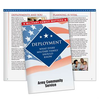 Deployment: What Every Military Family Should Know Handbook - Personalization Available