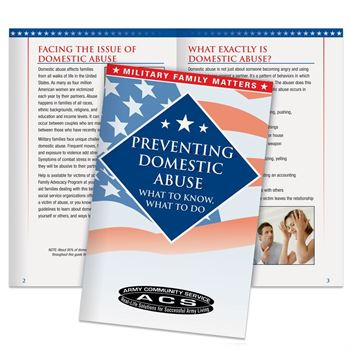 Preventing Domestic Abuse Military Family Handbook - Personalization Available