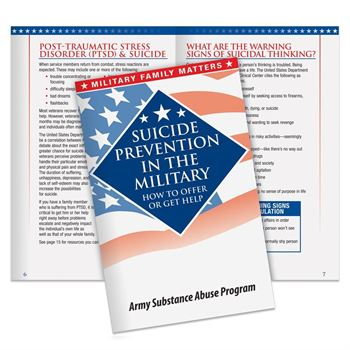 Suicide Prevention In The Military Handbook - Personalization Available
