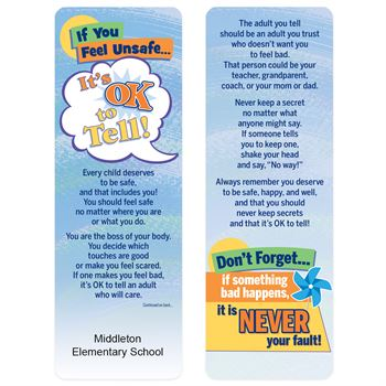It's Ok To Tell! Bookmark - Personalization Available