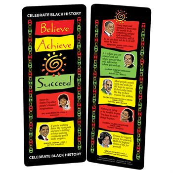 Believe, Achieve, Succeed Bookmark