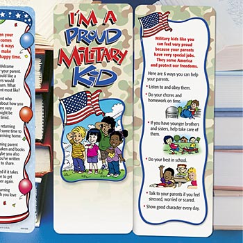 I'm A Proud Military Kid Bookmark - Personalization Available