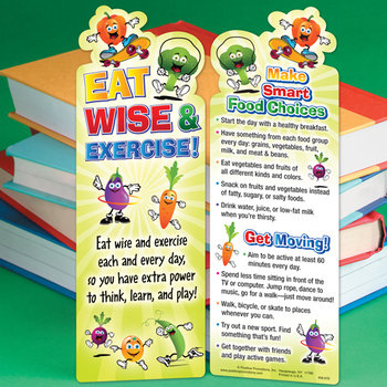 Eat Wise & Exercise! Bookmark