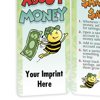 Bee Smart About Money Bookmark - Personalization Available