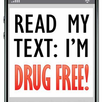 Read My Text I'm Drug Free! Bookmark