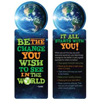 Be The Change You Wish To See In The World Die-Cut Bookmark - Pack of 100