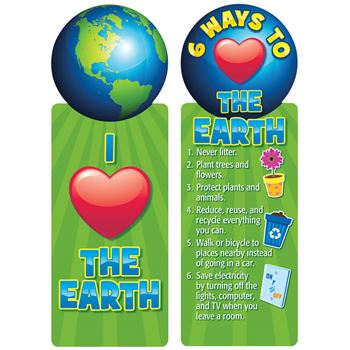 I (Heart) The Earth Bookmark - Pack of 30